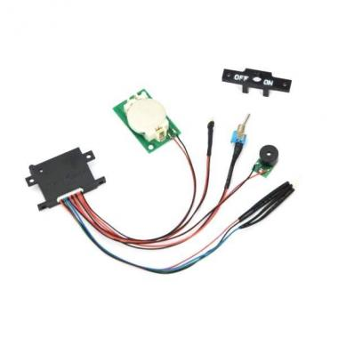 Vacuum Detection/Moisture Alarm PCB set<br />(incl. on/off switch and mount, buzzer, moisture sensor, CR2032 battery holder and 4 colour LED; 2pcs Panasonic CR2032 batteries incl.)
