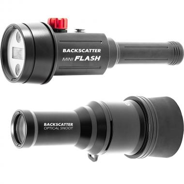 Backscatter mini flash MF-1 + Snoot Optical Snoot OS-1